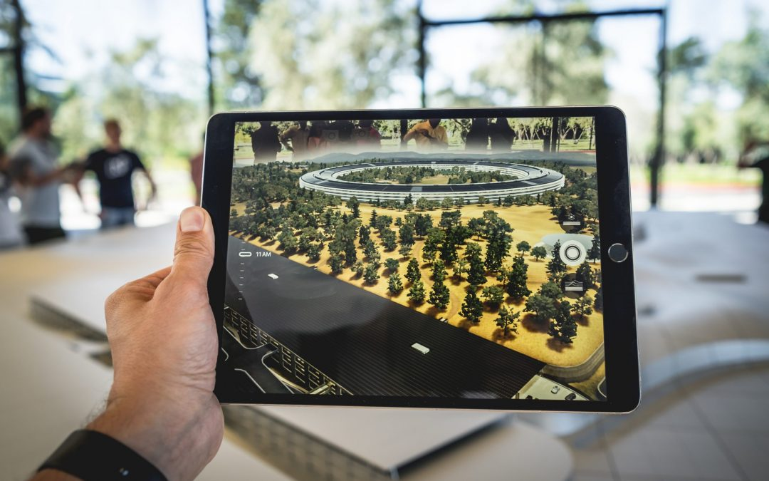 Augmented reality being used.